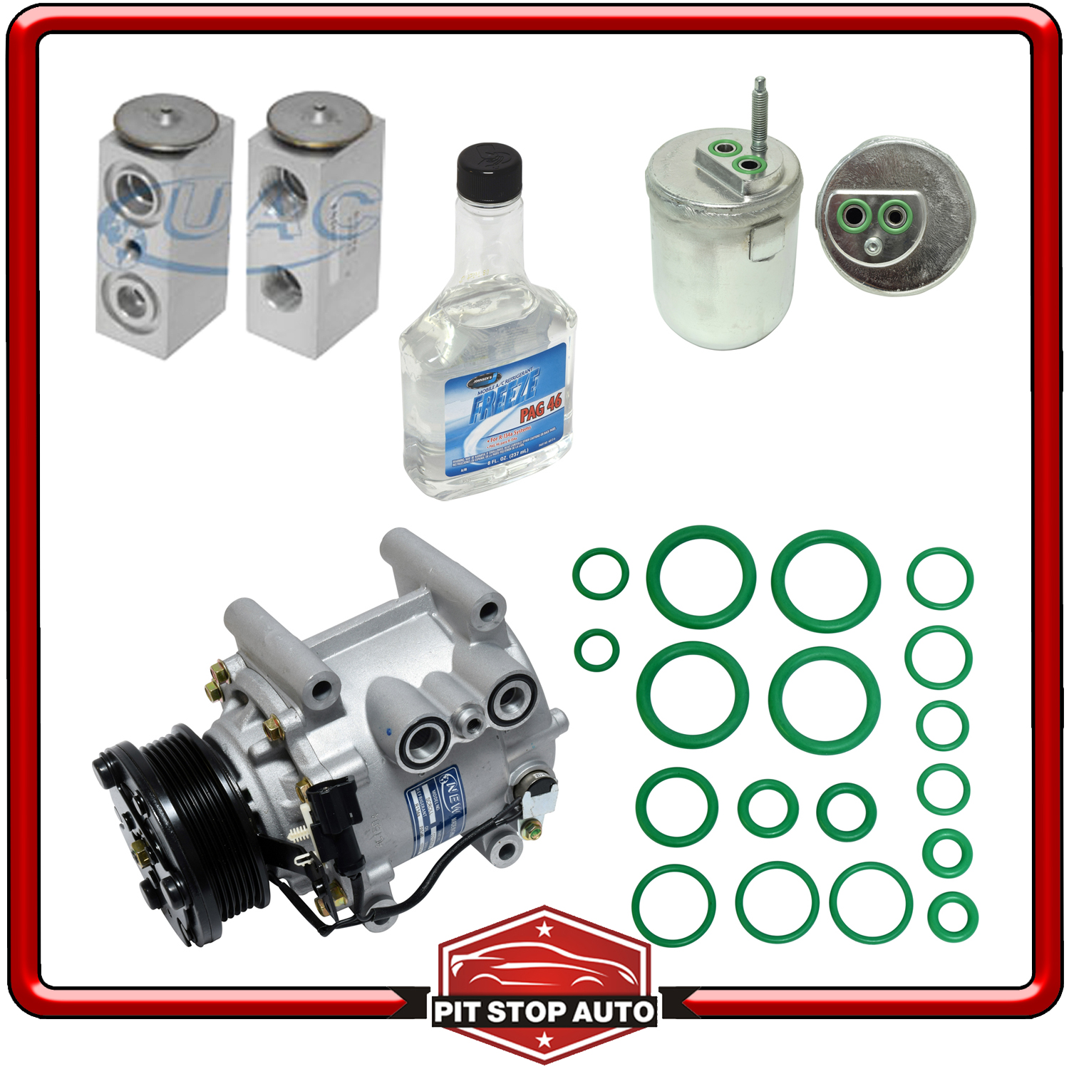 New A//C Compressor Kit KT 1689-2R8Z19V703BA Thunderbird
